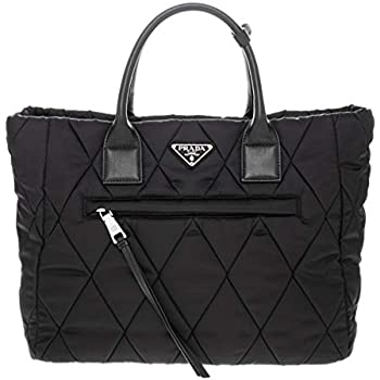 Amazon.com  Prada Women s Quilted Nylon Tote Bag Black  TheLuxuryClub a68fbff36e