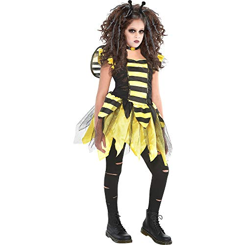 Zom Bee Halloween Costume for Girls, Medium, with Included Accessories, by Amscan]()