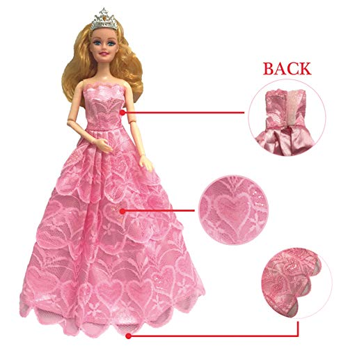 Lot 6 Pcs Fashion Handmade Clothes Dress For Barbie Doll Xmas Gift