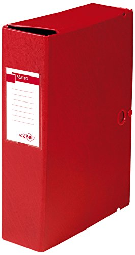 Sei Rota 67900812 Cartelle Porta Documenti e Progetti, Dorso 8 cm, Rosso 67900812S