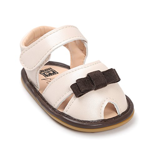 Ivory Pu Leather (Isbasic Baby Girls Summer Pu Leather Soft Soled Sandals Shoes (0-6 months, Ivory))