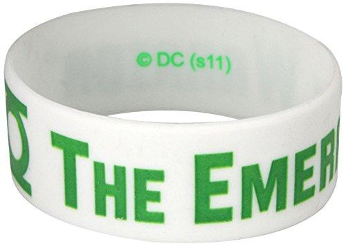 Green Lantern Thick Rubber Bracelet - Emerald Warrior
