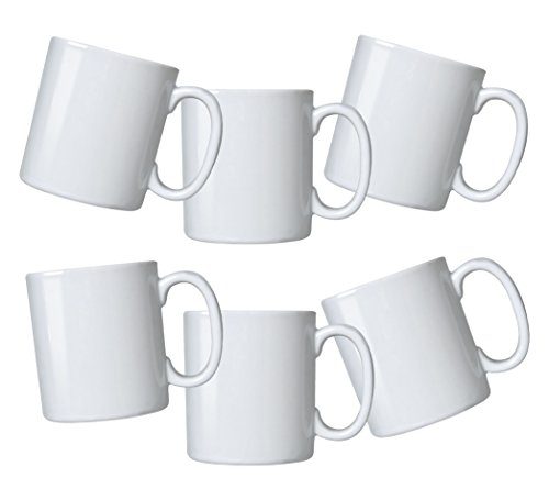 Oxford Biona Mugs (Set of 6), Pure White