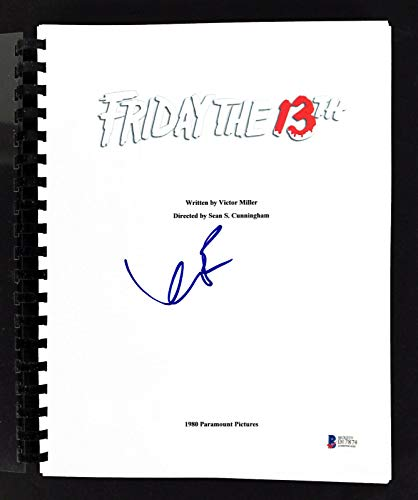 Kevin Bacon Signed Friday The 13th Movie Script BAS #D17874 - Beckett - The Friday 13th Bacon Kevin
