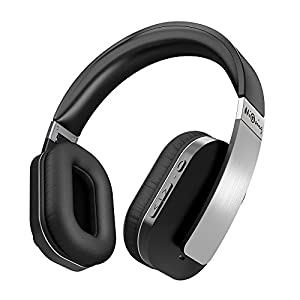 HiGoing Active Noise Cancelling Wireless Bluetooth Over Ear Headphones with Mic Foldable Hi-Fi Stereo headset for iOS iPhone Android TV PC Laptop - Black