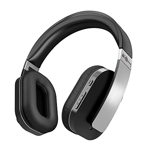 HiGoing Active Noise Cancelling Wireless Bluetooth Over Ear Headphones with Mic Foldable Hi-Fi Stereo headset for iOS iPhone Android TV PC Laptop – Black