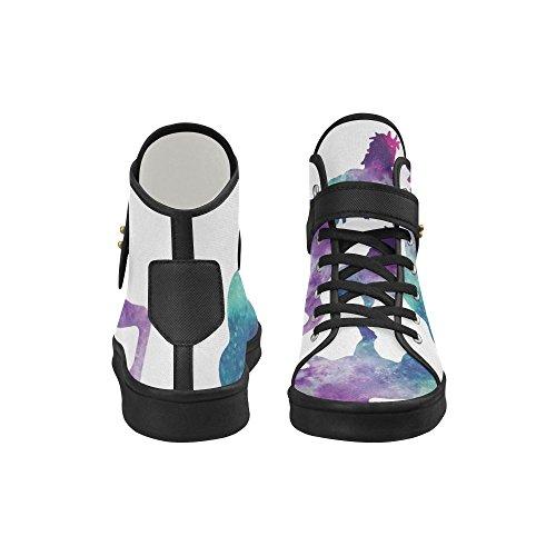 Chaussures De Tissu De Licorne Dimpressionprint Chaussures De Mode Pour Des Femmes Licorne 5