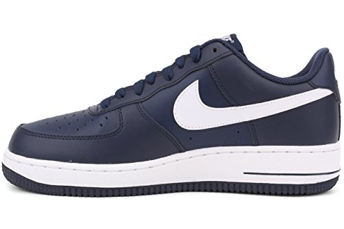 Nike Mens Air Force 1 Basket Skor Midnatt Marinblå / Vit