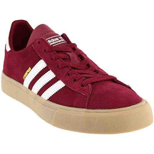 adidas Campus Vulc 2.0 ADV (Collegiate Burgundy/White/Gum 4) Men's Skate Shoes-9