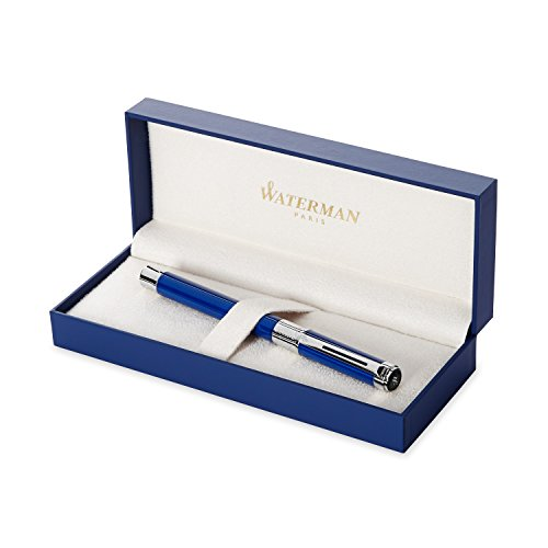 Waterman Perspective Blue, Rollerball Pen with Fine Black refill (19045780) by Waterman