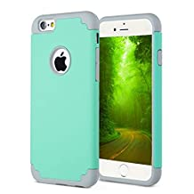 CaseHQ iPhone 6S plus Case,iPhone 6 plus Case,slim Dual Layer Silicone Rubber PC Protective Case Fit for iPhone 6 (2014) / 6S 5.5 inch (2015) Hybrid Hard Back Cover and Soft Silicone-Tear gray