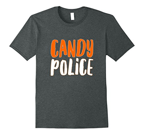 Cotton Candy Halloween Costumes (Mens Halloween Candy Police Costume Gift T-Shirt XL Dark Heather)