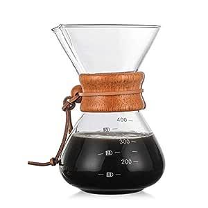 400 ml Cafetera de Vidrio Cafetera de Goteo Manual, Cafetera ...