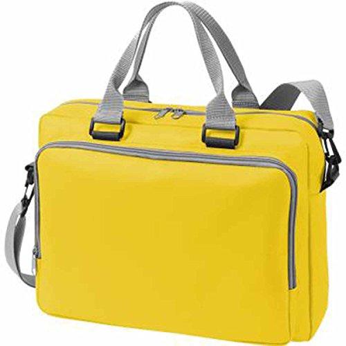 HALFAR 1802721-Bolsa portadocumentos solución 1808810 bandolera amarillo