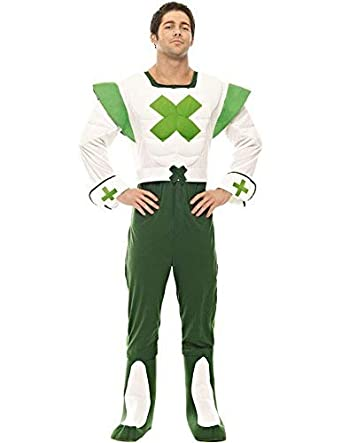 8de99841b762 Official Green Cross Code Man Fancy Dress Costume: Amazon.co.uk: Clothing