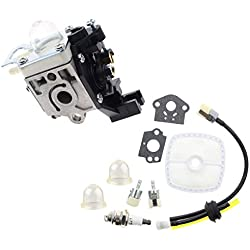AUTOKAY Carburetor for ZAMA RB-K75 Echo SRM 210 SRM 211 HC 150 PE 200 GT 200 Rebuild Kit