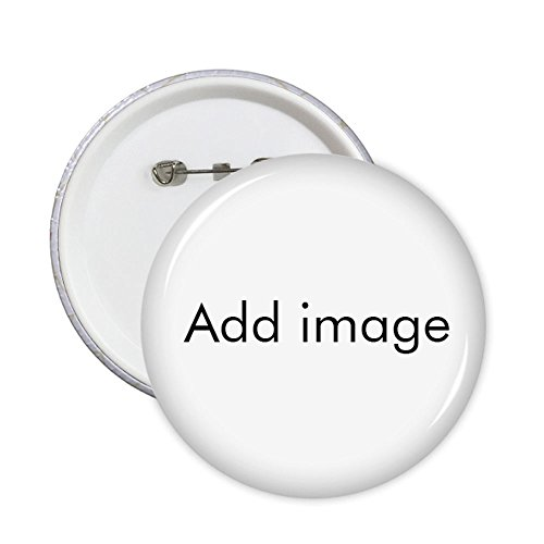 Custom Made Round Pins Badge Button Clothing Decoration Gift 5pcs Add Your Image Photo -