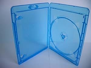 Amaray Blu-ray Envoltorios, Slim 11 mm, Machine-pack-quality, Transparente, Azul, 50 unidades