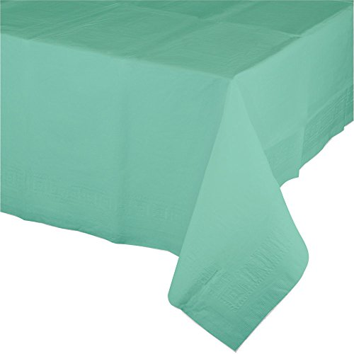 Paper Rectangular Table Cover (Creative Converting 324480 12-Count Celebrations Plastic Table Covers Green, Fresh Mint)