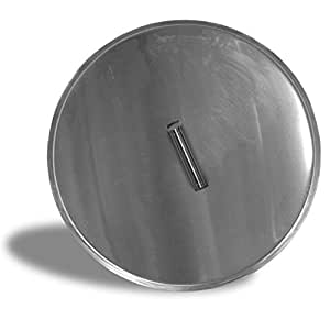 Firegear LID-16R Stainless Steel Burner Cover with Brushed Finish, Round, 19-inch