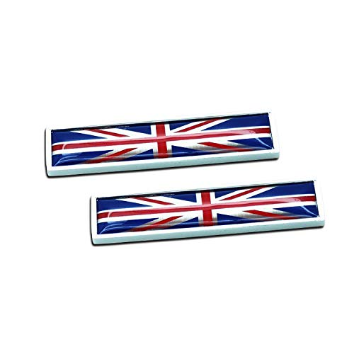 1 paio autoadesivo decalcomanie in metallo Inghilterra bandiera 3D emblema nazionale segni Regno Unito GB tricolore bandiera distintivo 58mm 14mm dimensioni grafica decalcomanie per auto 2pcs