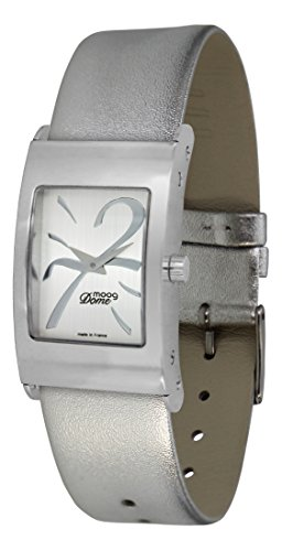 Moog Paris Dome Women's Watch with Silver Dial, Silver Strap in Genuine Leather - M41661-407