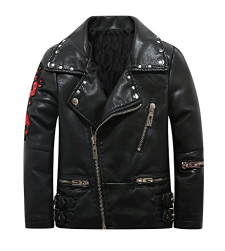 Slim Leather Motorcycle Jacket - 4
