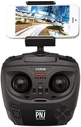 PNJ Drone R-Flyer HD Débutant radiocommande 100m Caméra HD 720p 30ips WiFi 2.4GHz Direction Lock, Mode Alti, décollage et atterrissage automatiques