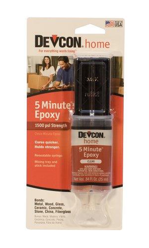 (Devcon Epoxy, 5 Minute Epoxy, 1 Ounce Syringe | GLU-720.80)