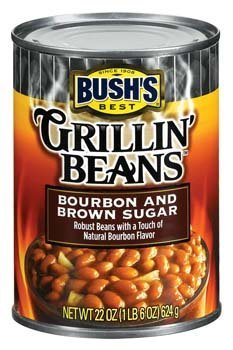 Bush's Best, Grillin' Beans, Bourbon & Brown Sugar, 22oz Can (Pack of 6)