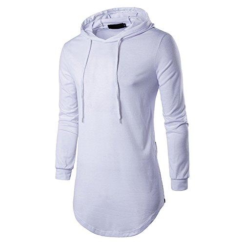 Semen Classique T Homme Blanc Longues Capuche Hauts À Gym Slim Sweat Manches Tops Hop shirts Blouse Hip 5wrqdX5Wn