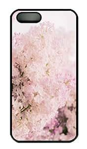 iPhone 5S Case - Customized Unique Design Pink Lilac New Fashion PC Black Hard by icecream design