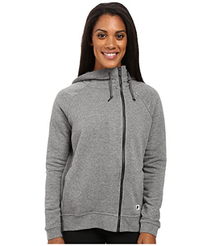 Nike Sportswear Modern Women's Cape (Large, Carbon Heather/Dark Grey/Black Oxidized)