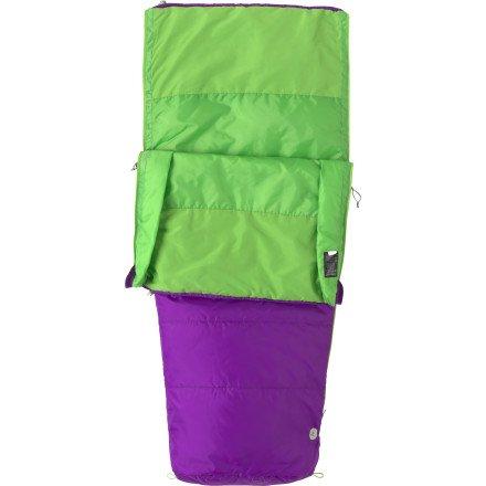 Marmot Mavericks 40 Semi Rec Sleeping Bag – Kid's Vibrant Purple Regular / Left Zip, Outdoor Stuffs