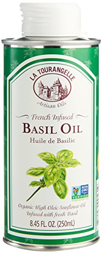 (La Tourangelle, Basil Infused Sunflower Oil, 8.45 Fl. Oz.)