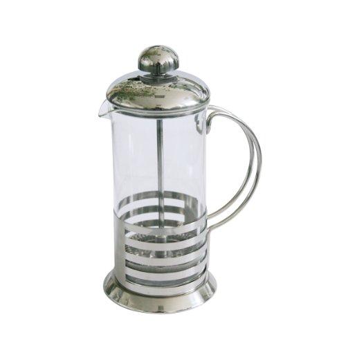 Axentia Kaffee- und Teezubereiter, Edelstahl Kaffeemaschine, 350 ml Fassungsvermögen, volles Aroma, Pressfilterkanne, sofort genießen, Kaffeepresse mit temperaturbeständigem Borosilikatglas,  French Press, Barista