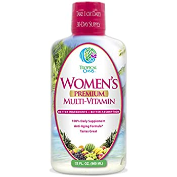 Women's Premium Liquid Multivitamin, Superfood, & Herbal Blend -Anti-Aging Liquid Multivitamin for Women. 100+ Ingredients Promote Heart Health, Brain Health, & Bone Health -1mo supply