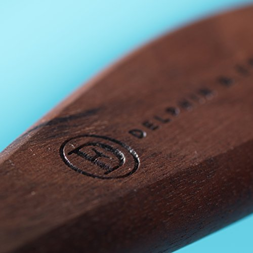 Delicately Soft Natural Hair Brush for Sensitive Scalps and Thinning Hair - Handcrafted Belgian Walnut Wood Handle Natural Bristle Brush, Peach Blossom Hair Brush, by Delphin & Emerence by Delphin & Emerence (Image #8)