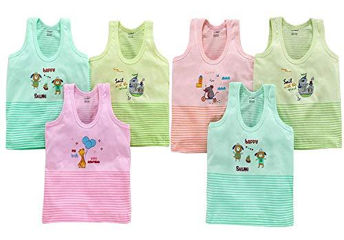 Cucumber Exclusive Vest baniyan Cotton Inner wear Vest for Baby Vest Kids Vest Toddler Vest Pack of 6 (2-3 Years, Multicoloured-1)