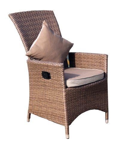 Nice Amazon.de: Ambientehome Verstellbarer Polyrattan Sessel Stuhl Somalia, Braun Good Looking
