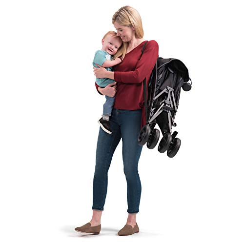 410GwRY5 nL - Summer 3Dlite+ Convenience Stroller, Matte Black – Lightweight Umbrella Stroller With Oversized Canopy, Extra-Large Storage And Compact Fold