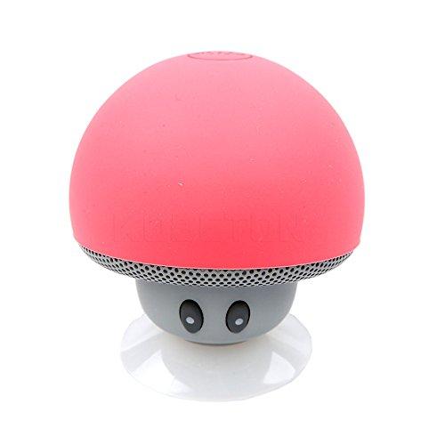 Pymacin - HOT Portable Wireless Bluetooth Mushroom Speaker Waterproof Speakers Bluetooth HiFi Stereo Music Speaker For Phone[ Red ]