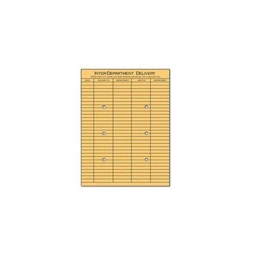 Universal® Light Brown Kraft String & Button Interoffice Envelope ENVELOPE,DEPT,10X13,2SIDE (Pack ()