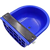 Blue Automatic Water Bowl with Drainage Hole for