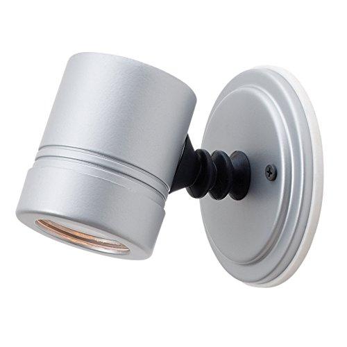 (Access Lighting 23025LEDMG-SILV/CLR Myra Outdoor LED Spotlight with Clear Glass Shade, Silver )