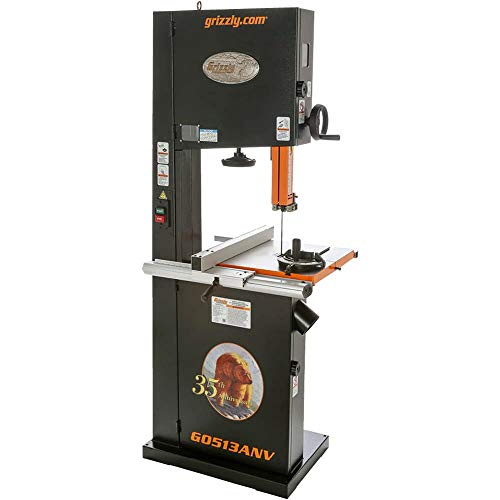 Grizzly G0513ANV 2 HP Bandsaw Anniversary Edition, 17-Inch