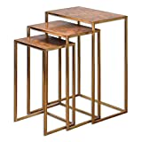 Cheap Uttermost 24449 Copres Oxidized Nesting Tables Set of 3, Gold