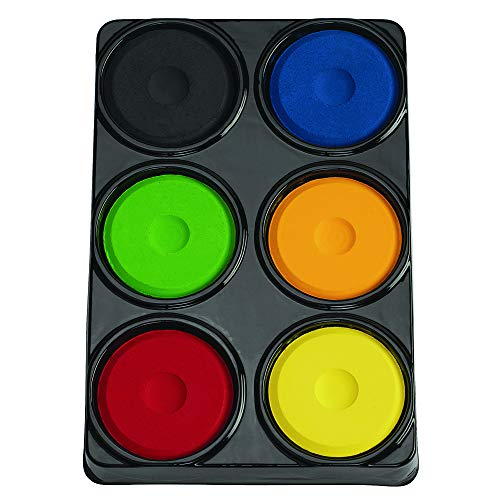 (Colorations 6TCA 6 Color Tempera Paint Cakes in Tray Set A (Pack of 6) )