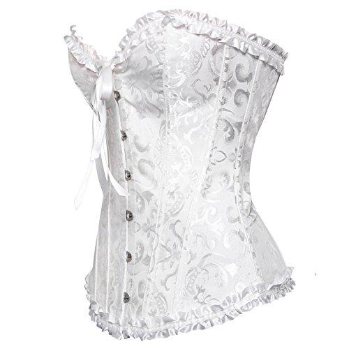 Wäsche Frauen Weiß Bridal Oben Izanoy Sich G-schnur Schnürt Knochen Satin Ohne Mit Korsett