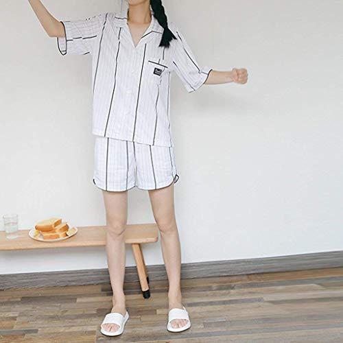 De Albornoz 3 Elegantes Pants Mujer Batas Tops cuello Cinturón 2 Flecos Fashion Verano Conjunto Con Blanco Camisones Pijama V Pijamas 4 Ropa Mangas Pedazos xYqdZdwC7